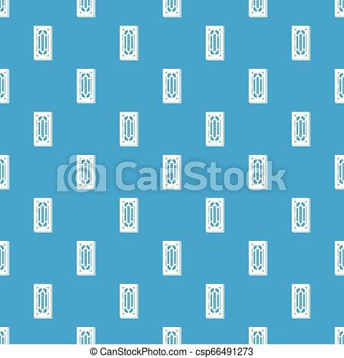 Doorway pattern vector seamless blue - csp66491273