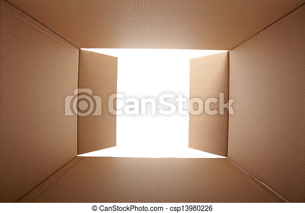 doosje, binnen, karton, aanzicht - csp13980226