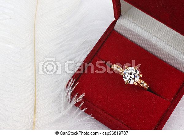 Fonkelnieuw Doosje, diamant, juwelen, cadeau, trouwring, witte. Doosje VZ-82