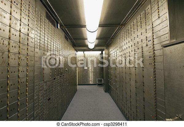 doosje, gewelf, bewaarkluis, bank - csp3298411
