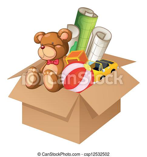 doosje, speelgoed - csp12532502