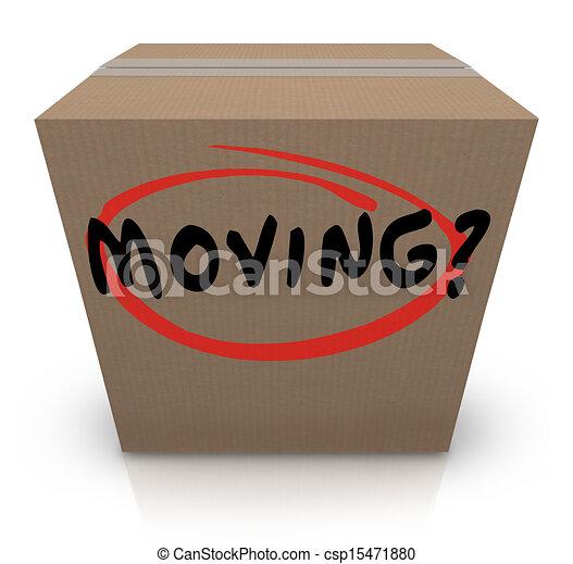 doosje, woord, helpen, steun, verhuizing, plaats, het veranderen, karton - csp15471880