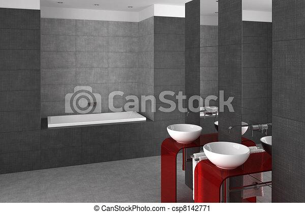 Doppelg nger badezimmer becken gekachelt badewanne - Badezimmer becken ...