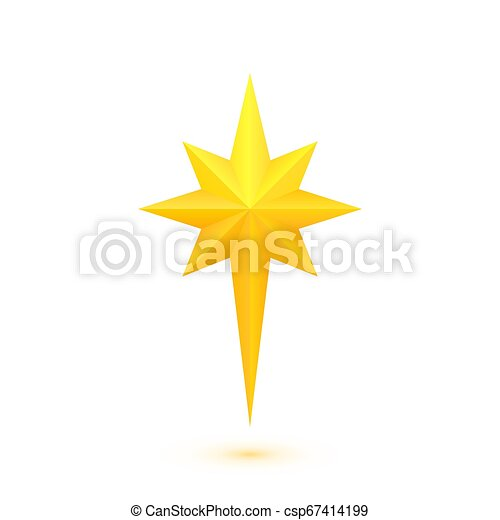 doré, étoile brillante, noël - csp67414199