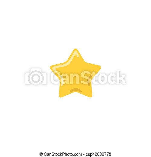 doré, étoile, illustration, vecteur, jaune, icône - csp42032778