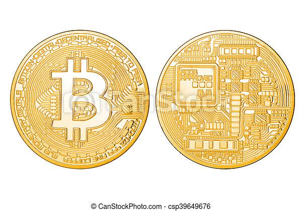 doré, bitcoin, isolé - csp39649676