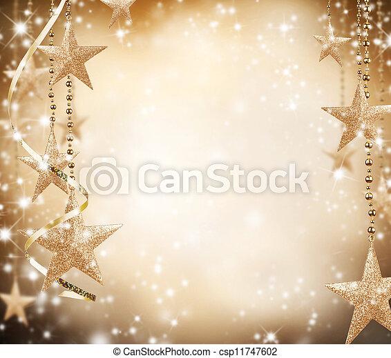 doré, espace, texte, gratuite, thème, étoiles, noël - csp11747602