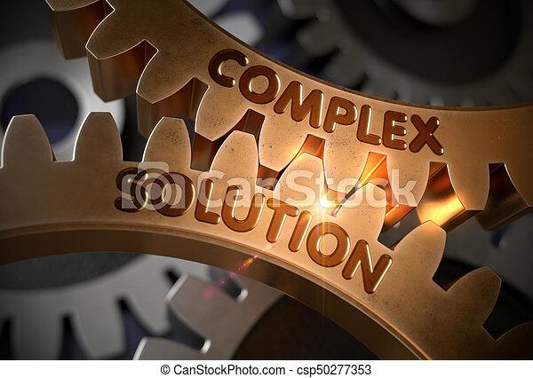 doré, illustration., concept., solution, complexe, cogwheels., 3d - csp50277353