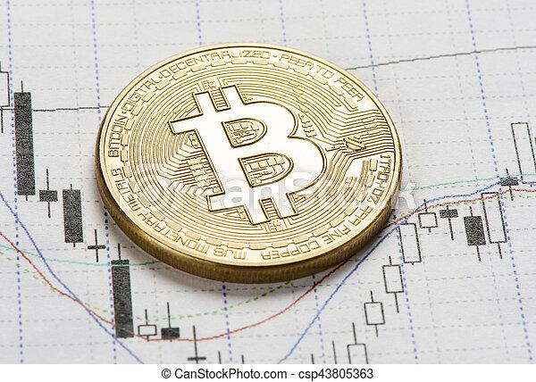 doré, monnaie, bitcoin - csp43805363