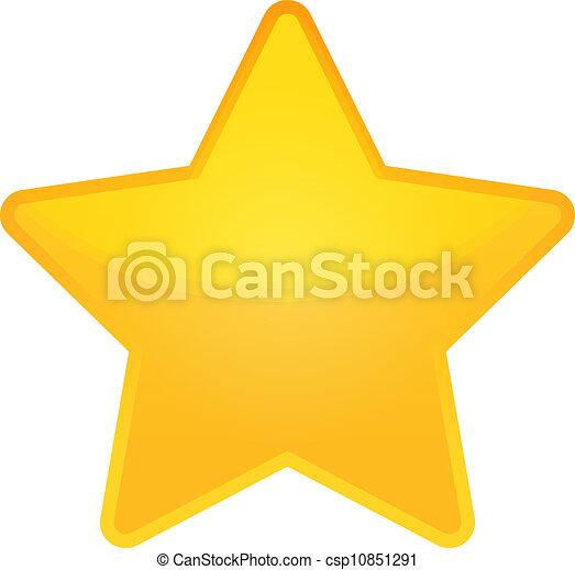 doré, vecteur, étoile - csp10851291