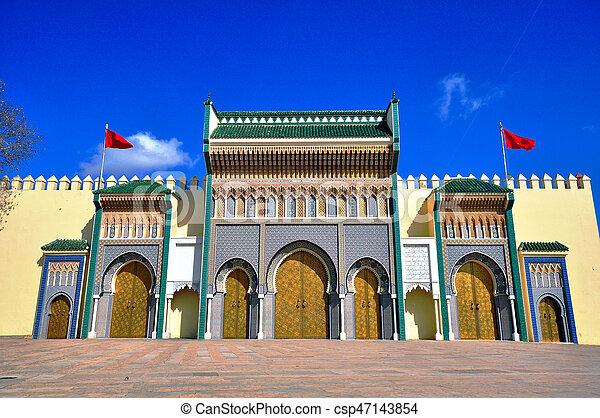 Royaume dor vieille ville portes palace royal maroc fes - Consulat du maroc porte de versailles ...