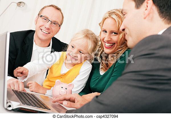 doradca, finanse, ubezpieczenie, -, rodzina - csp4327094