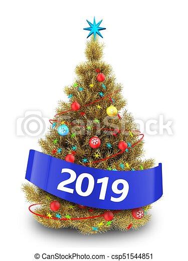 Imagenes De Navidad 2019.Dorado Arbol Senal 2019 Navidad 3d