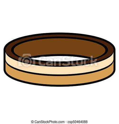 dorado, anillo, aislado - csp50464088