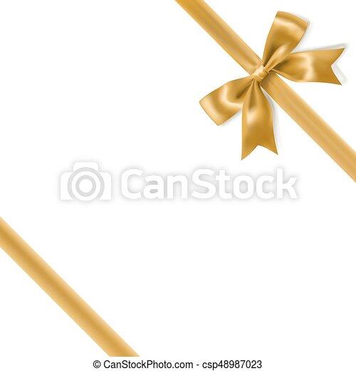 La decoración de la proa dorada bordea el fondo blanco. Vector - csp48987023