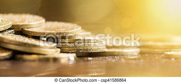 Pancarta dorada - csp41586864