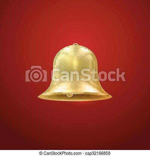 Campana dorada. Ilustración de vacaciones - csp32166858