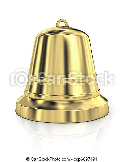 Brillante campana dorada - csp6697491