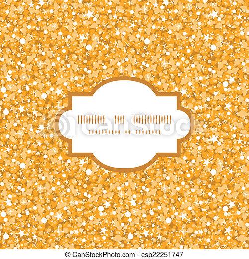 Vector de brillo dorado brillante textura marco de fondo sin estructura - csp22251747