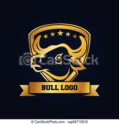 La Plantilla De Diseño De La Mascota Del Toro Dorado