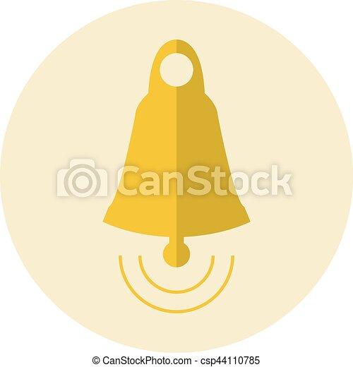 El icono de la campana dorada - csp44110785