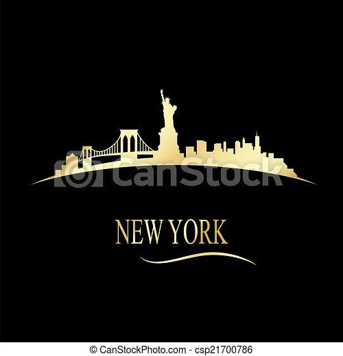 El horizonte de Nueva York de lujo - csp21700786