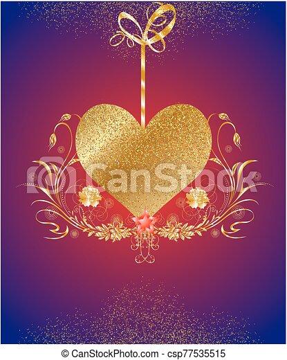 dorado, corazón - csp77535515