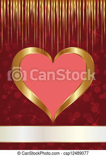 Corazón dorado - csp12489077