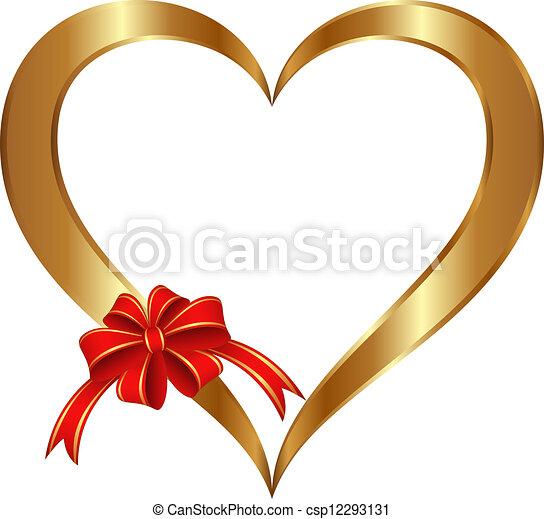Corazón dorado - csp12293131