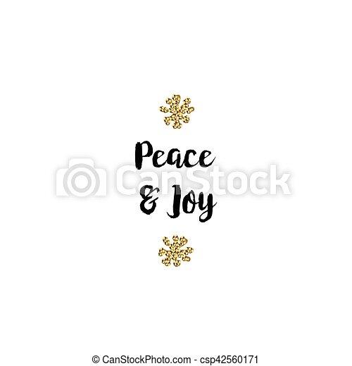Tarjeta de Navidad en fondo blanco con elementos dorados y texto - csp42560171