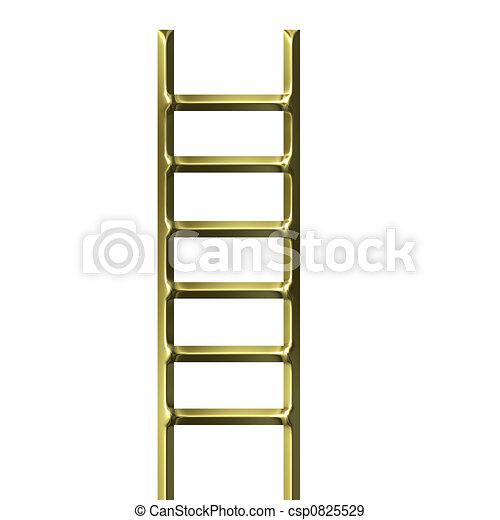 3D escalera de oro - csp0825529
