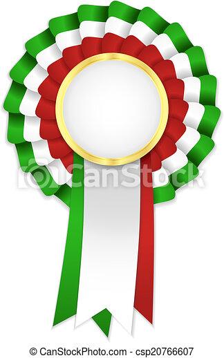 Dorado, escarapela, marco, tricolor, rojo verde, cinta blanca.