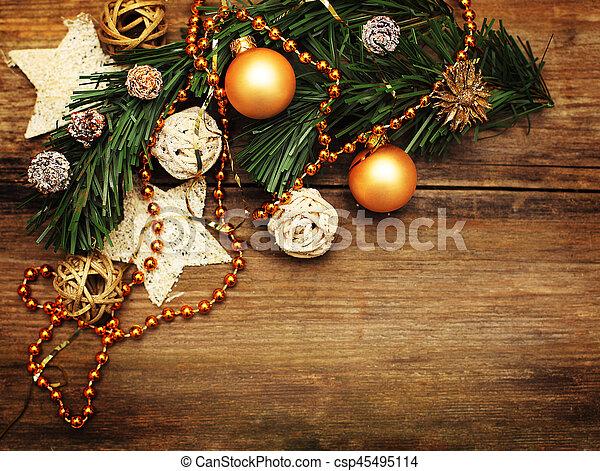 Dorado Estrella Decoración árbol Navidad Plano De Fondo