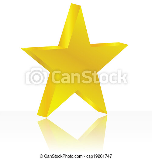 Estrella dorada - csp19261747