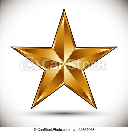 Vector estrella dorada. - csp22354063