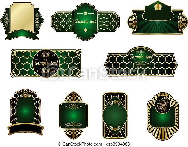 Una colección de etiquetas de oro - csp3904883