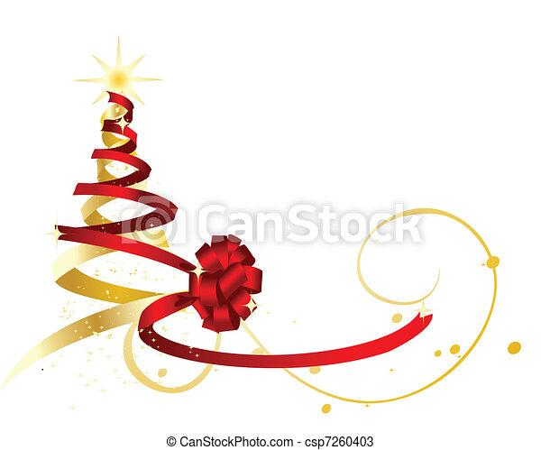 Gr ficos vectoriales de dorado forma rbol cinta - Cinta arbol navidad ...
