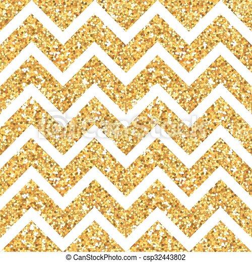Oro geometría brillante fondo - patrón sin costura - en vector - csp32443802