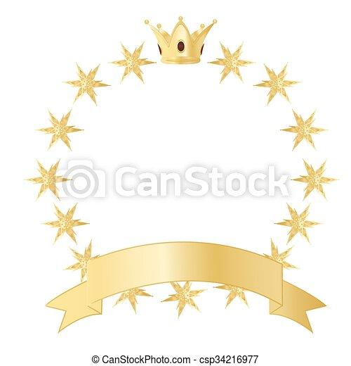 Una corona dorada con estrellas - csp34216977