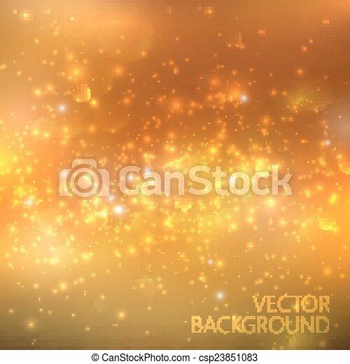 Oro brillante fondo con brillantes destellos y brillo. Ilustración navideña brillante - csp23851083
