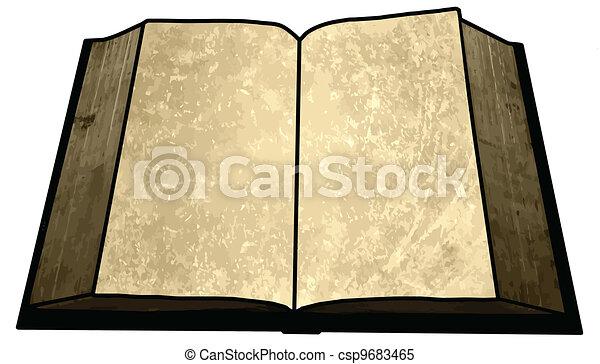 Una imagen de libro en blanco - csp9683465