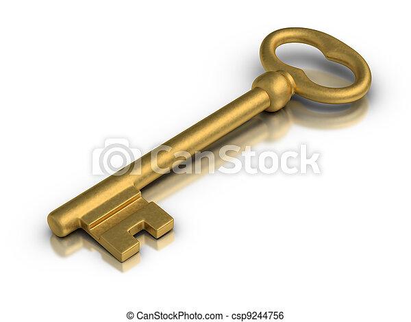 La llave maestra dorada - csp9244756