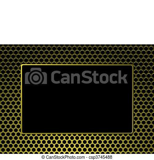 Un cuadro de metal dorado - csp3745488