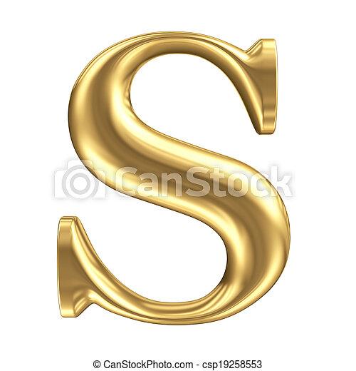 Carta dorada S, colección de joyas - csp19258553