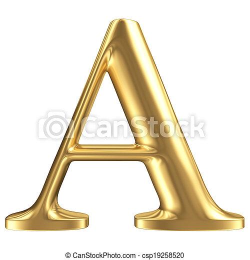 dorado, mate, joyería, un, colección, carta, fuente - csp19258520