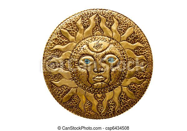 El sol dorado del Mediterráneo está aislado - csp6434508