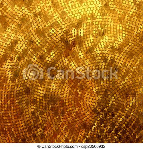 Mosaico dorado. Trasfondo abstracto. EPS 8 - csp20500932