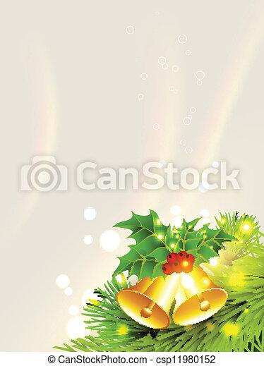 La campana de oro de Navidad - csp11980152