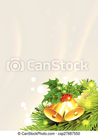 Campana dorada de Navidad - csp27687550