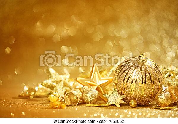 dorado, navidad, plano de fondo - csp17062062